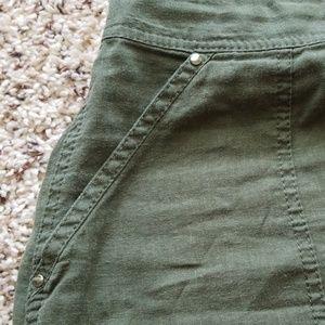 White House Black Market Skirts - Dark Green Linen Skirt